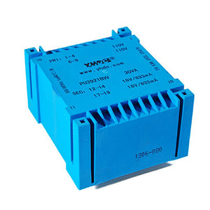 PU series flat type isolation transformer PU3921BW 110V×2/115V×2 30VA - PowerUC