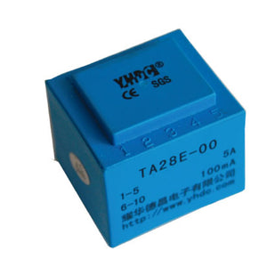 Primary core built-in type current transformer TA28E Rated input 0-50A;0-10A;0-20A Rated output 0-100mA;0-25mA;0-20mA;0-10mA;;0-5mA;0-3.3mA;0-4mA - PowerUC