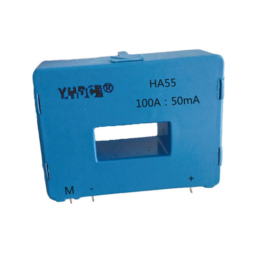 Hall closed loop current sensor HA55 Rated input ±50A/100A Rated output ±50mA - PowerUC