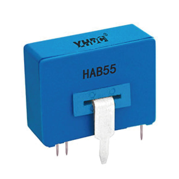 Hall closed loop current sensor HAB55 Rated input ±50/±100A Rated output ±50mA - PowerUC