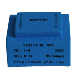 PCB safety isolation transformer PE4113-M 110V / 220V / 230V 4VA - PowerUC