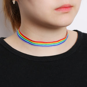 Rainbow Choker - freeloveapparel
