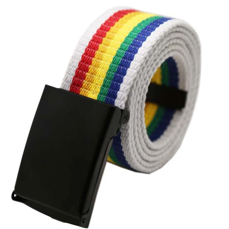 Rainbow Belt with White outline - freeloveapparel