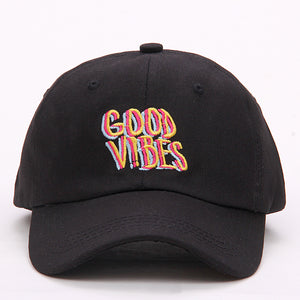 Good Vibes Dad Hat - freeloveapparel