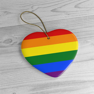 Rainbow Ceramic Ornaments - freeloveapparel