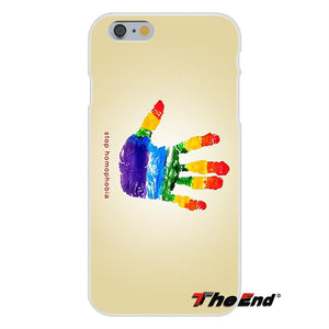 For iPhone X 4 4S 5 5S 5C SE 6 6S 7 8 Plus Galaxy Grand Core Prime Alpha Gay Lesbian LGBT Rainbow Pride ART Silicone Phone Case images 5 - freeloveapparel