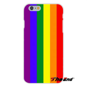 For iPhone X 4 4S 5 5S 5C SE 6 6S 7 8 Plus Galaxy Grand Core Prime Alpha Gay Lesbian LGBT Rainbow Pride ART Silicone Phone Case images 2 - freeloveapparel
