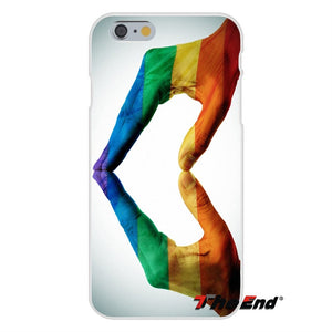 For iPhone X 4 4S 5 5S 5C SE 6 6S 7 8 Plus Galaxy Grand Core Prime Alpha Gay Lesbian LGBT Rainbow Pride ART Silicone Phone Case images 4 - freeloveapparel