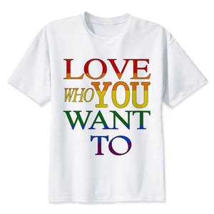 Love Who You Want To T-Shirt - freeloveapparel