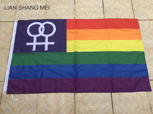 Female rainbow flag 3x5 FT