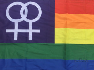 Female rainbow flag 3x5 FT - freeloveapparel