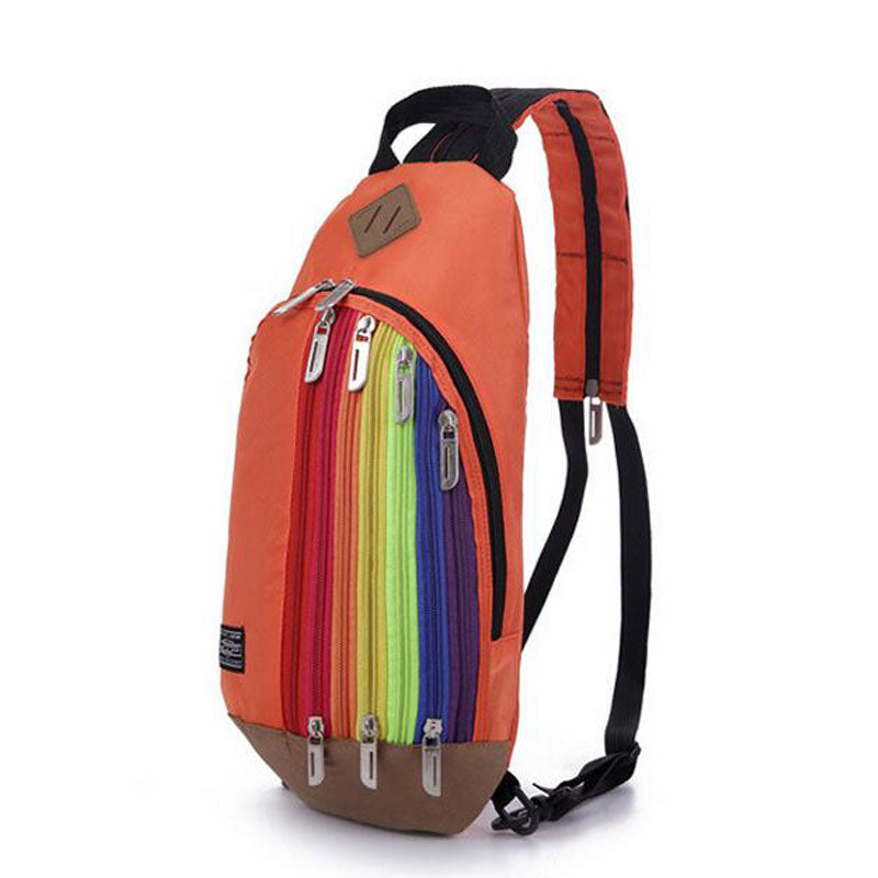 Shoulder Strap Rainbow Backpack - freeloveapparel