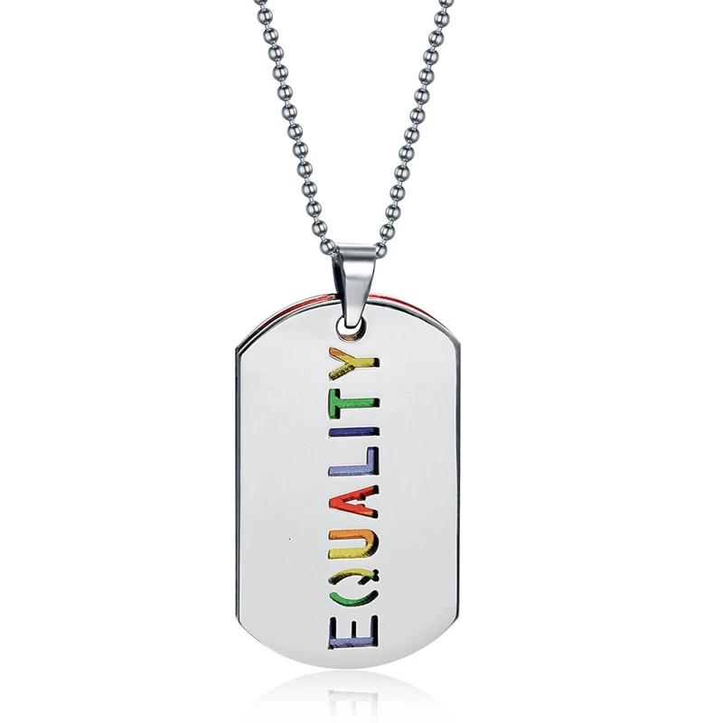 'Equality' Pride Necklace - freeloveapparel