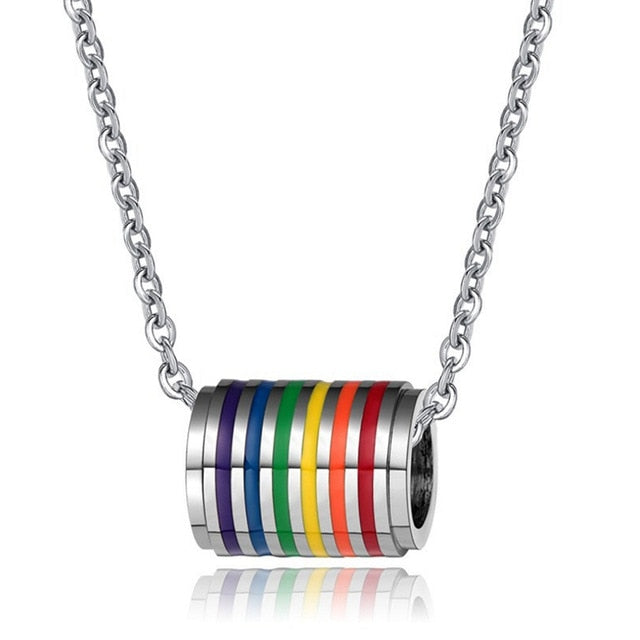 The Rainbow Cylinder Necklace - freeloveapparel
