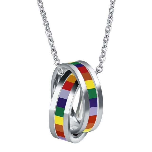 Dual Ring Pride Necklace - freeloveapparel