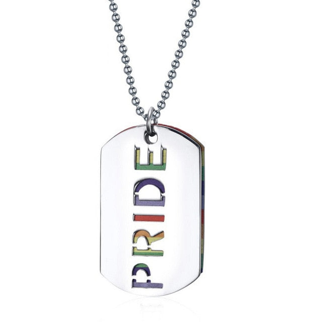 Pride Dog Tag Necklace - freeloveapparel