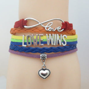 LOVE WINS LGBT bracelet - freeloveapparel