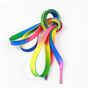 Rainbow shoelace - freeloveapparel