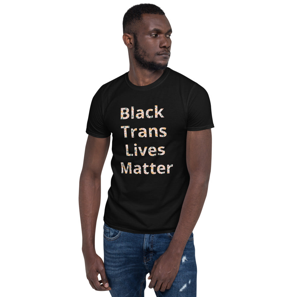 Black Trans Lives Matter Unisex T-Shirt - freeloveapparel