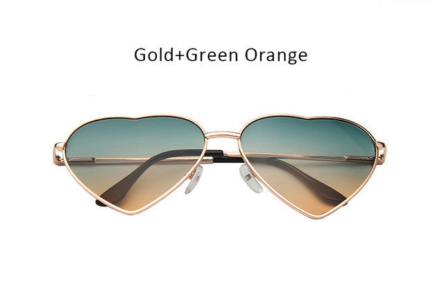 Women Heart Shape Sunglasses Ocean Lenses Sun Glasses For Female - freeloveapparel