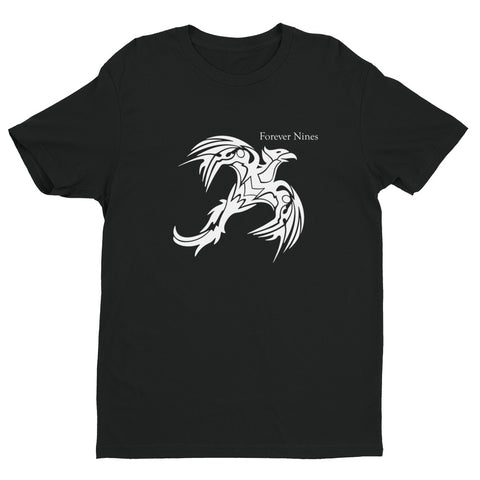 White Tribal Bird Short Sleeve T-shirt