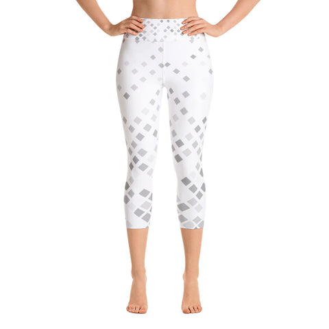 Yoga Capri Square Print Leggings