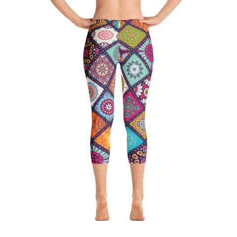 Mandalas Capri Leggings