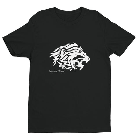White Tribal Lion Short Sleeve T-shirt