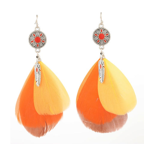 Bohemia Feather Earrings