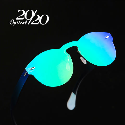 20/20 Retro Round Rimless Glasses