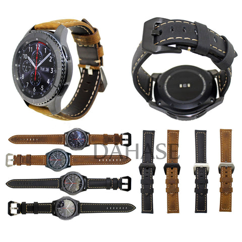 Luxury Genuine Leather Wrist Strap for Samsung Gear
