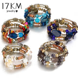 Multilayer Resin Stone Bracelet