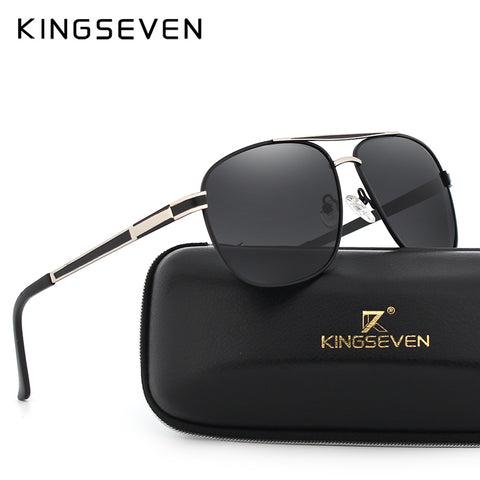 KINGSEVEN Aluminum Square Sunglasses