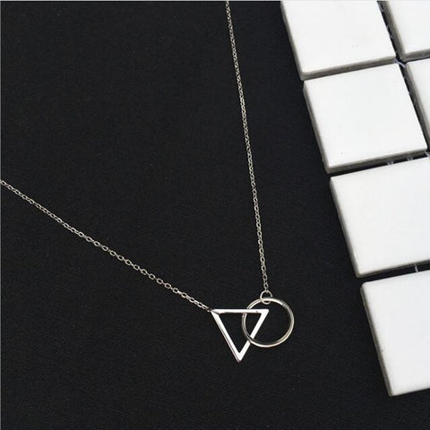 Minimalist Triangle Round Resistance Necklaces