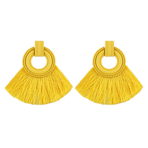Big Sector Tassel Earrings