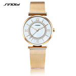 SINOBI Women's Golden Diamonds Watches