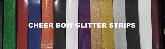 Glitter Cheer Bow Strips