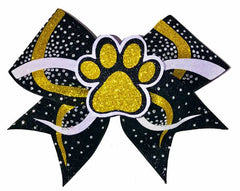 3D Paw Print Cheerleading Competition Bow