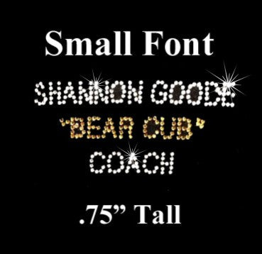 ss10 Rhinestone Small Font Lettering