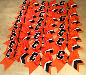 Orange Team Bows