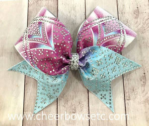 Summer Fun Girly Hair Bow with Rhinestones