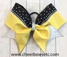 Load image into Gallery viewer, The Sweetheart Rhinestone Cheerleading Bow