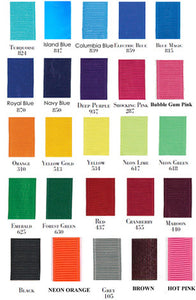 Grosgrain Color Chart