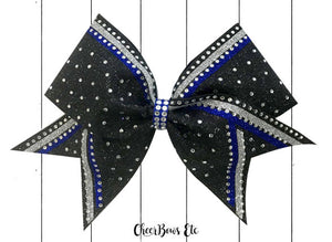 royal blue legacy cheer bow