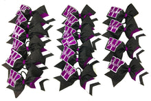 Load image into Gallery viewer, Collegiate purple and white bow