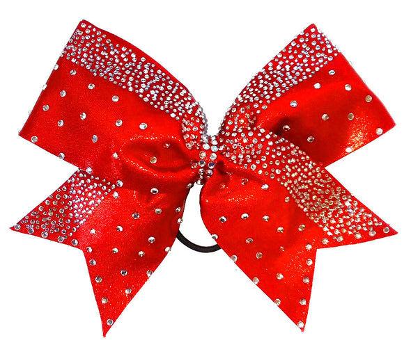 Red Diamond Crusted Bow for Cheerleaders
