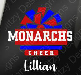 Monarchs Personalized Two Color Decal
