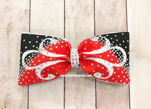 Fleuris bow red and black