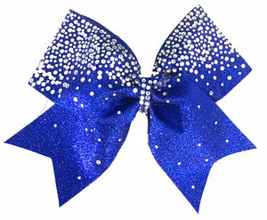 Royal Blue Frosted Loops Glitter Bow Royal Blue