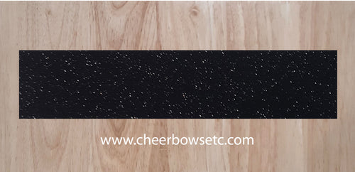 Galaxy Black Pre-Cut Cheerleading Bow Strips